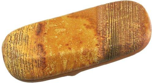 Brillenetui Kalbleder Leder Vulkan, dkl.braun, für normal bis große Brillen, Innengröße 65 (147x55x30mm)