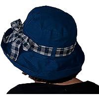Dazoriginal Cappello per donna Cappello Parasole da Donna Cappello da sole per Donna Spiaggia delle Signore Cappello pieghevole Cappello di Sun Signore di Estate Pianura Cappello da pioggia Spiaggia sole visiera pieghevole ampia tesa Blu