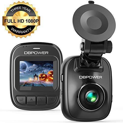 DBPOWER Telecamera per Auto 1080p, Mini videocamera per auto con Schermo da 1,5', Registratore Guida Auto con Visione Notturna, G-Sensor, Rilevazione Movimento, Loop Continuo, Monitor Parcheggio