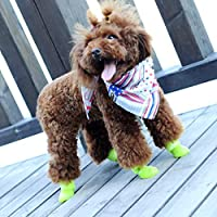 Swiftswan Waterproof Durable Mini Pet Little Dog Teddy Rain Boots Shoes Small Pet Rainboots Anti-Slip Paws Booties