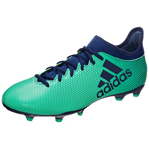 adidas Herren X 17.3 FG Fußballschuhe, Weiß, 16 EU grün / dunkelblau