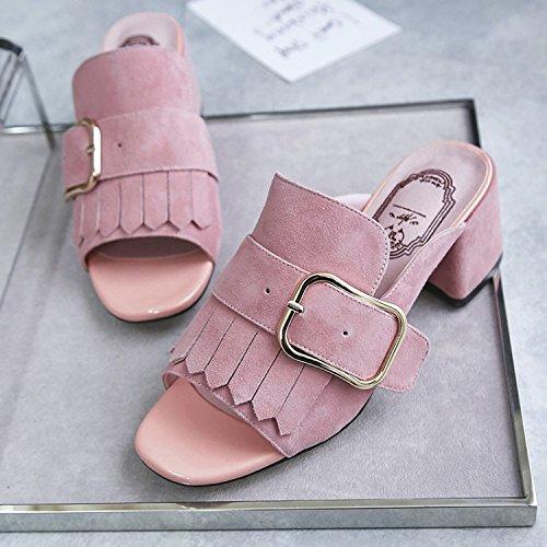 ZYUSHIZ Frauen Schuhe Sommer Sandalen Hausschuhe 38EU