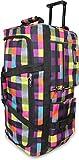 normani Leichte XXL Reisetasche Rollenreisetasche Trolley Sporttasche mit Rollen Farbe Neon Square