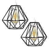 2x Vintage Käfig Draht Lampenschirm - MOTENT Retro Industrielle Metall DIY Stehlampe Pendelleuchte 7,87