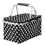 olayer Klappbarer Picknick Einkaufskorb tragbar klappbar Hitze & Cool Aufbewahrung Hand