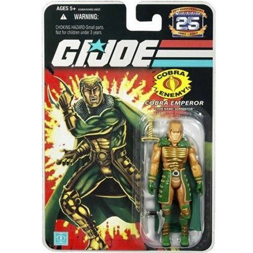 G. I. Joe G.I. Joe Hasbro - Figura decorativa de 3 3/4 pulgadas, 2 acciones, diseño de cobra y serpentor