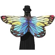Schmetterling Kostüm, Dasongff Frauen Mädchen Karneval Kostüm schmetterlingsflügel Kostüm Faschingskostüme Butterfly Wing Cape Kimono Flügel Schal Cape Tuch