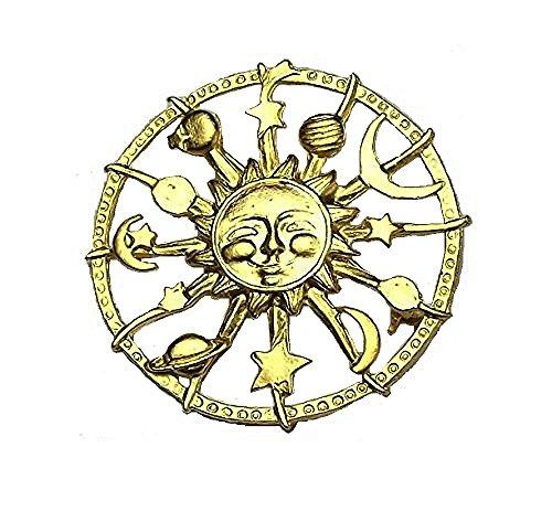 Celestial Sonne, Mond, Sterne, Planeten Jewelllery Astrologie Brosche (Vintage Uk Kostüme Halloween)