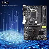 HibiscusElla Mining Board B250 Mining Expert Motherboard Video Card Interface Supports GTX1050TI 1060TI Designed for Crypto Mining