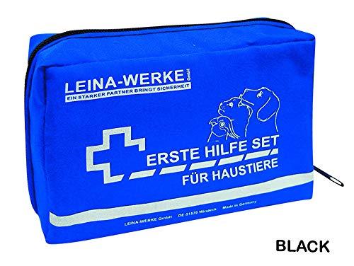 LEINA-WERKE 52002 Erste-Hilfe-Set für Haustiere, Schwarz Farbe, Weiß Druck