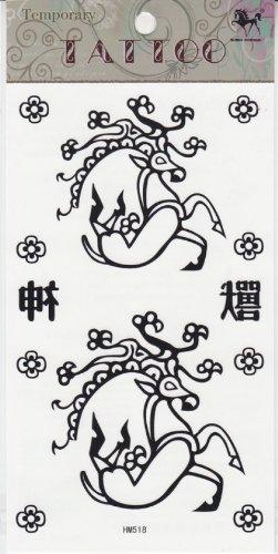 2013 nouvelle conception nouvelle version tatouage temporaire étanche cerfs bête Dieu totem faux tatouages