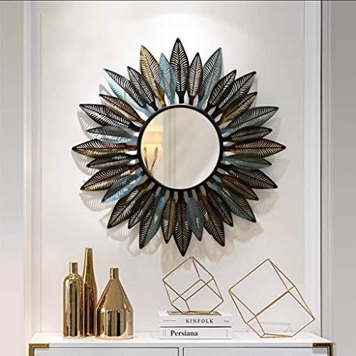 GWFVA Spiegel Französisch Land Schmiedeeisen Blätter Dreidimensionale dekorative Wohnzimmer Schlafzimmer Eitelkeit -