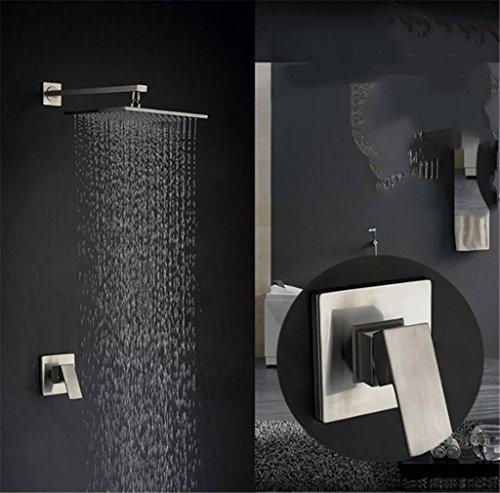 FFJTS Ducha empotrada en la pared - Set completo de ducha de...