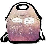 Kühltaschen,Get Real Be Rational Funny Math Bequeme Lunchbox Einkaufstasche Rugged Lunchbox