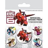 Big Hero 6 - Hiro Hamada, Baymax, 1 X 38mm & 4 X 25mm Chapas Set De Chapas (15 x 10cm)
