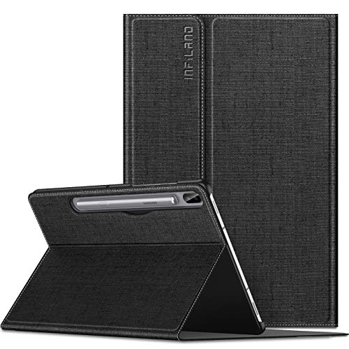 INFILAND Hülle für Galaxy Tab S6 2019, Slim Ultraleicht Halten Schutzhülle Case mit Auto Schlaf/Wach Funktion Compatible for Samsung Galaxy Tab S6 2019 T860/T865 10.5 Zoll,Schwarz