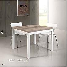 Tavolo Quadrato 140x140 Allungabile.Amazon It Tavolo Quadrato Allungabile