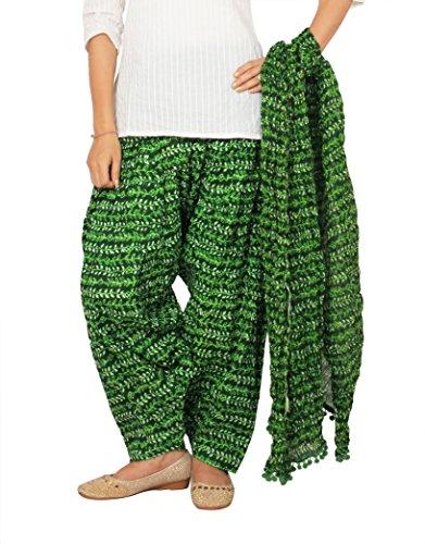 Rama Green Color Ragular Fit Floral Print Full Patiala and Dupatta Set
