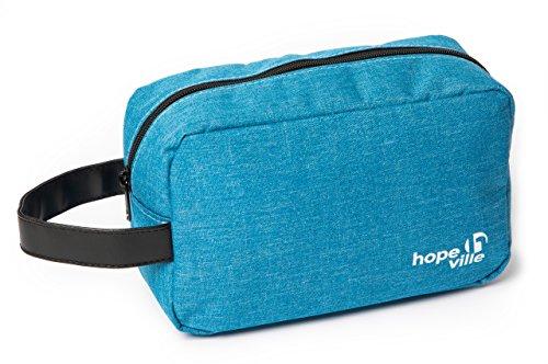 HOPEVILLE Kulturbeutel, leichte und hochwertige Kulturtasche, Kosmetiktasche für Damen und Herren für die Reise, Ausflug und Sport (Blau)