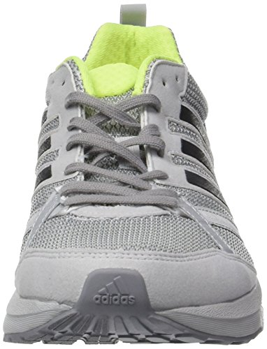 adidas Adizero Tempo 9 M, Chaussures de Running Entrainement Homme Gris (Grey Two/Core Black/Solar Yellow)