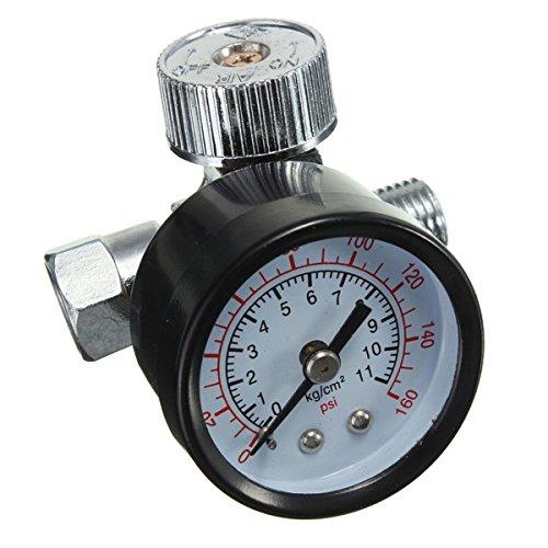 Spray Gun Hobby (1/4inch verstellbar Mini Air Pressure Regulator Dial Gauge HVLP Spray Gun Air Tools)