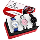 #8: Decode Exclusive Women's Multi Colors Combo Of 3 Analogue Watch (Wx321)