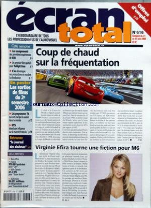 ECRAN TOTAL [No 616] du 21/06/2006 - COUP DE CHAUD SUR LA FREQUENTATION - CARS - VIRGINIE EFIRA