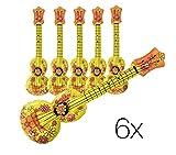 TK Gruppe Timo Klingler 6x Aufblasbare Gitarre/Ukulele Air Guitar Instrument Luftgitarre für Party, Feste uvm.