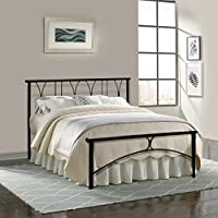 Furniturekraft Double Size Bed (Black)