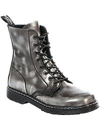 074d440c7a4c7c Boots   Braces - Easy 8-Hole Silver Rangers Black Boots Black Rub Off silver