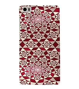 PrintVisa Red Diamond Pattern 3D Hard Polycarbonate Designer Back Case Cover for Xiaomi Redmi Mi5