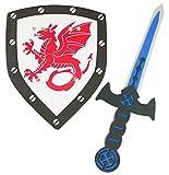 Das Kostümland Foam Knight Set con Dragón - Espada y Escudo para...