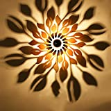 BCYEM E27 Modern Wandleuchte Holz Kreative Blume Wandlampen Wandbeleuchtung Wohnzimmer Schlafzimmer Indoor (ohne Glühbirne)