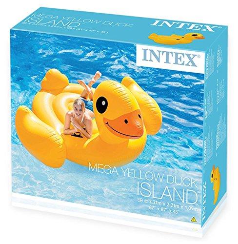 Intex Ente riesige Badeinsel Schwimmtier Luftmatratze 221 cm