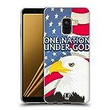 Head Case Designs One Nation Under God American Pride Soft Gel Hülle für Samsung Galaxy A8 Plus (2018)