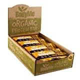 BodyMe Organic Vegan Protein Bar | Raw Cacao Orange | Box of 12 x 60g | With 3 Plant Proteins from BodyMe