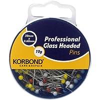 Korbond 10 g de alfileres cabeza de vidrio para uso profesional