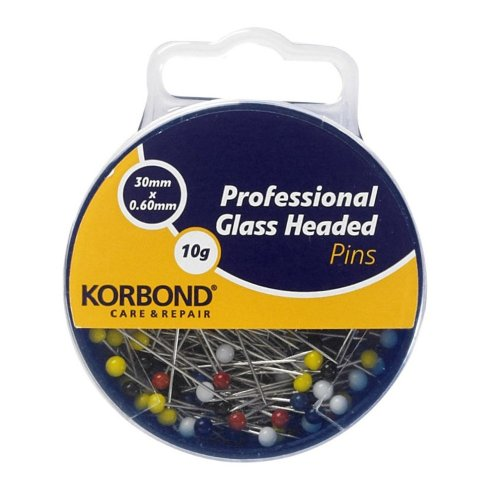 Korbond-10-g-Professional-Glass-Headed-Pins