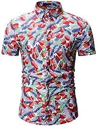 68bf18f0aa Amazon.es  Camiseta Rayas Rojas - Hombre  Ropa
