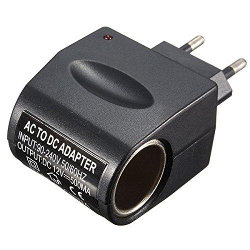 Takestop® Adaptador AC/DC enchufe enchufe 220V Salida 500mAh (500milliampere/0,5amperios) Mechero Coche Red...