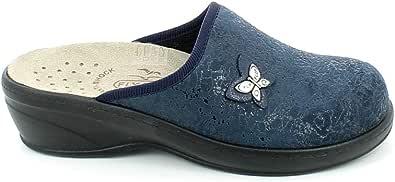Fly Flot 35P09 YY Pantofole Donna con Plantare Estraibile in Panno Blu