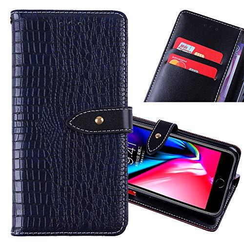 ZYQ Dark Blau Flip Leder Tasche Für Umidigi Plus TPU Silikon Schutz Hülle Brief Case Cover Etui Klapphülle Handytasche