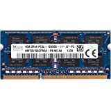 Hynix 4GB PC3-12800 DDR3-1600MHz non-ECC Unbuffered CL11 204-Pin SoDimm 1.35V Low Voltage Dual Rank Memory Module Mfr P N