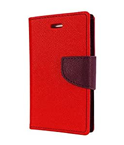 DR2S Mercury Wallet Flip Cover for Htc One E8 - RED
