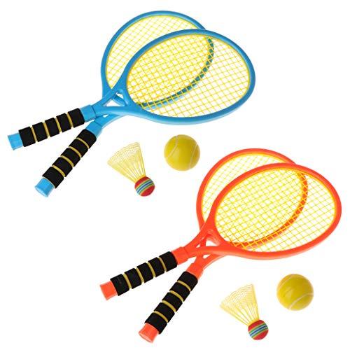 Lamdoo 2-in-1-Schläger für Kinder, Fitness, Badminton, Tennisschläger, für Outdoor-Freizeit -