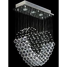Dst cuore moderno trasparente gioiello di cristallo di goccia della pioggia lampadario a sospensione, a soffitto luce di illuminazione del lampadario a bracci per il salone, sala da pranzo, camera da letto di studio L50CM W20CM H70cm