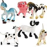 Homyl 6pcs Set de Juguete de Modelo de Animal de Plástico Juguete...