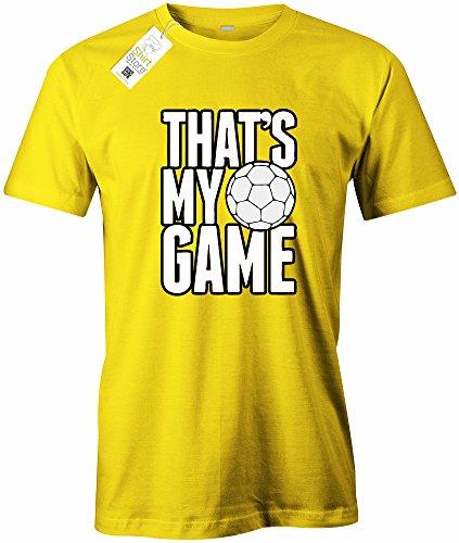 THAT´S MY GAME FUSSBALL - HERREN - T-SHIRT Gelb