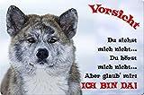 +++ AKITA INU - Metall WARNSCHILD Schild Hundeschild Sign - AKI 14 T2