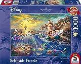 Schmidt Spiele Puzzle 59479 - Thomas Kinkade, Disney Kleine Meerjungfrau Arielle, 1.000 Teile Puzzle